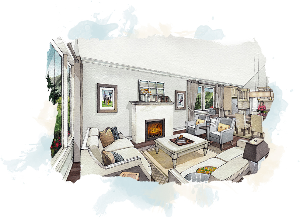 concept of inside home