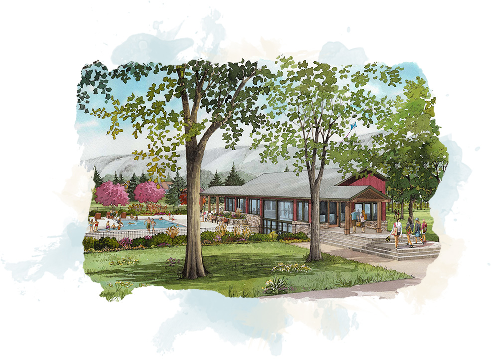 art image of windfall at blue mountain neighborhood